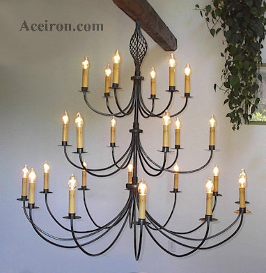 Large Wrought Iron Chandeliers