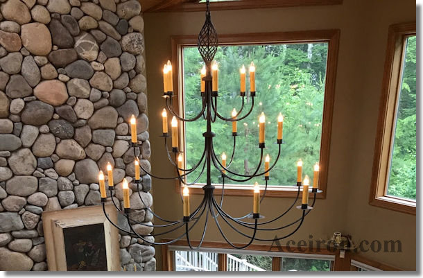 Ace Wrought Iron Chandeliers, Lighting & Accessories Hand-Forged by ...