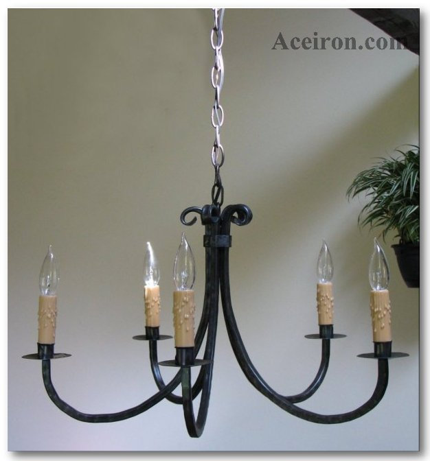 Ace Wrought Iron Hand Forged Custom Square Arm Chandeliers By Clayton J Bryant