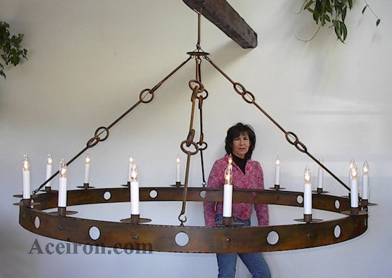 Ace Wrought Iron Custom Large Wrought Iron Chandeliers Hand Forged By Clayton J Bryant