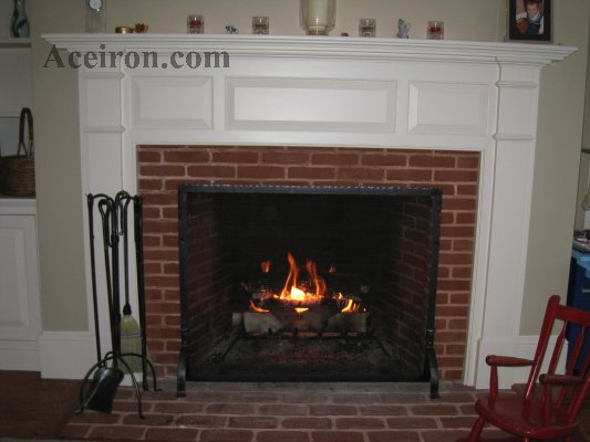Ace Wrought Iron Custom Fireplace Tools Fireplace Screens By Clayton J Bryant