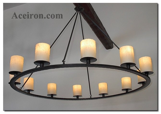 Ace Wrought Iron Custom Katonah Pillar Chandelier by Clayton J Bryant – Rot Iron Chandeliers