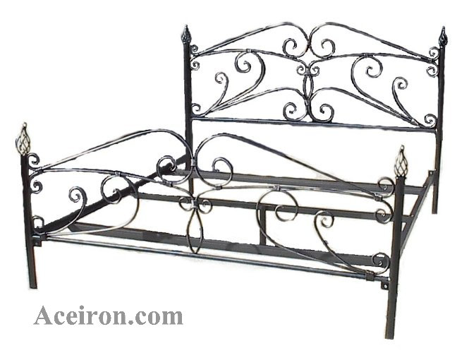 ace wrought iron custom iron scroll beds by clayton j bryant - Wrought Iron Bed Frame