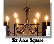 click here for Square Arm Chandelier