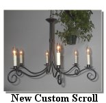 click here to LOOK AT NEW CUSTOM SCROLL Chandelier